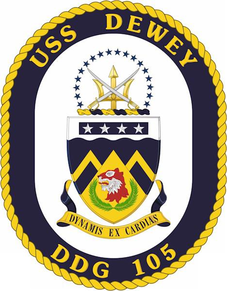 USS Dewey COA