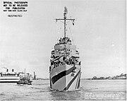 USS Mahan bow 1944