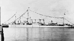 USS Perry (DD-340) at Key West on 4 July 1934 (NH 67111).jpg