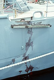 USS Princeton (CG-59) hull crack