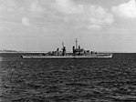 USS San Juan (CL-54) at anchor, circa in 1943 (NH 50246).jpg
