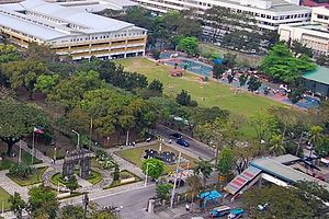 Quadricentennial Pavilion - The UST Engineering Complex in 2008, which would be later the site of the Quadricentennial Pavilion.
