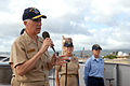 US Navy 070507-N-4965F-015 Vice Adm. Samuel Locklear, commander, U.S. 3rd Fleet, addresses the crew of Ticonderoga-class guided-missile cruiser USS Port Royal (CG 73) during an awards ceremony.jpg
