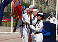 US Navy 070719-N-6544L-002 The Naval Support Activity Naples color guard presents the colors during the opening of the Commander, Navy Region Europe and Commander, Maritime Air Naples, change of command ceremony.jpg