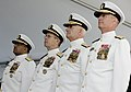 US Navy 070827-N-0696M-080 Vice Adm. Adam Robinson, Chief of Naval Operations Adm. Mike Mullen, Vice Adm. Donald C. Arthur, Surgeon General and chief of the Bureau of Medicine and Surgery, and Rear Adm. Richard Jefferies, comma.jpg