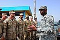 US Navy 090730-N-2420K-140 Gen. William 'Kip' Ward, Commander, U.S. Africa Command, talks to Sailors during the establishment of a U.S. military harbor security force at the Port de Djibouti.jpg