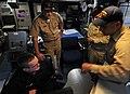 US Navy 090827-N-0807W-070 ear Adm. Richard Landolt, Commander, Expeditionary Strike Group (ESG) 7-Task Force (CTF) 76, tours the San Diego-based mine countermeasures ship USS Avenger (MCM 1) during a visit to Fleet Activities.jpg