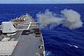 US Navy 090901-N-9123L-067 The guided-missile destroyer USS McCampbell (DDG 85) fires the MK 45 five-inch gun system off the coast of Okinawa, Japan during a live-fire exercise.jpg