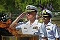 US Navy 100412-N-8273J-125 Chief of Naval Operations (CNO) Adm. Gary Roughead renders honors during a wreath laying ceremony at Amar Jawan Jyoti in New Delhi.jpg