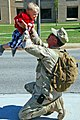 US Navy 100426-N-7084M-151 A Seabee assigned to Naval Mobile Construction Battalion (NMCB) 22, a Navy reserve battalion based in Dallas, Texas, is greeted by his son at Naval Construction Battalion Center, Gulfport, Miss.jpg