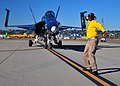 US Navy 110211-N-ZS026-084 An F-A-18 Hornet strike fighter taxis across the flight line at Naval Air Station North Island.jpg