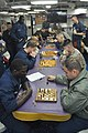 US Navy 110311-N-7293M-186 Sailors and Marines aboard the amphibious transport dock ship USS Ponce (LPD 15) compete in a chess tournament sponsored.jpg