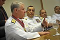 US Navy 110810-N-ZB612-104 Chief of Naval Operations (CNO) Adm. Gary Roughead and Chief of the Brazilian navy Staff Adm. Mauro Neto answer question.jpg