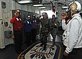 US Navy 111218-N-DX615-003 Maj. Gen. Dato' Suhaimi arrives aboard the multi-purpose amphibious assault ship USS Makin Island (LHD 8) for a brief vi.jpg