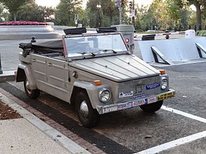 Richard Burr - Burr's iconic 1973 VW Thing, front