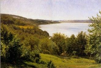 Vilhelm Kyhn - View over Vejle Fjord, 1854