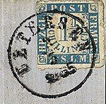 Uetersen Poststempel 1865 (1864 issue) 02.jpg