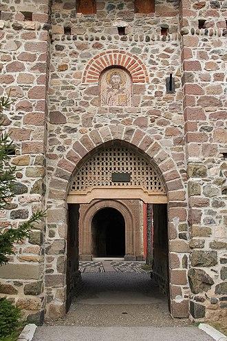Žiča - Žiča Monastery entrance