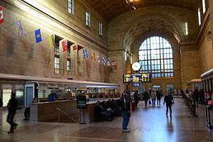 "Union Station (Toronto) - Union Station's Ticket Lobby, also informally known as the ""Great Hall"""