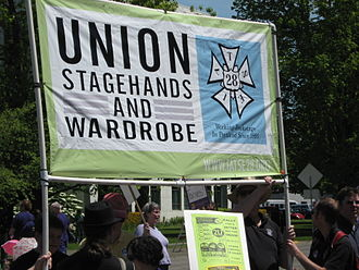 International Alliance of Theatrical Stage Employees - Local 28 rally in Portland, OR