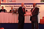 United States Agency for International Development's (USAID) Mission Director to Pakistan, Greg Gottlieb, presented the power distribution companies PESCO and IESCO with tools and maintenance vehicles (15755483096).jpg