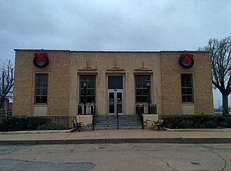 National Register of Historic Places listings in Harmon County, Oklahoma - Image: United States Post Office Hollis