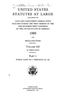 United States Statutes at Large Volume 103 Part 1.djvu