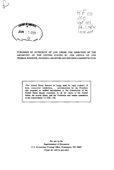 File:United States Statutes at Large Volume 103 Part 1.djvu