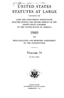United States Statutes at Large Volume 74.djvu
