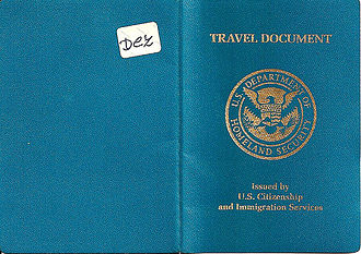 U.S. Re-entry Permit - Cover of the U.S. Travel Document