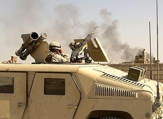 Battle of Najaf (2004) - Image: United States soldier during the Battle of Najaf