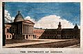 University College, London; the main building. Coloured engr Wellcome V0013664.jpg