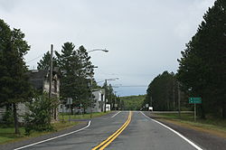 Looking east in Upson on WIS77