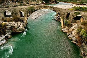 Shkodër - The Mes Bridge was built in 1770 and is one of the longest Ottoman bridges in the region.
