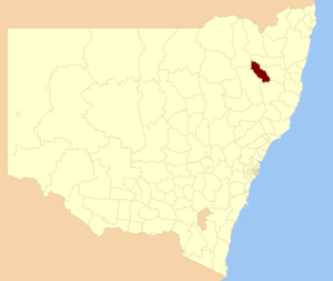 Uralla Shire - Location in New South Wales