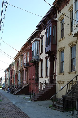 Neighborhoods of Albany, New York - Houses on Clinton Avenue, Arbor Hill