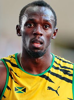 Usain Bolt by Augustas Didzgalvis (cropped)