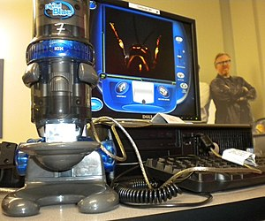 Digital microscope - An insect observed with a digital microscope.