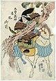 Utagawa Yoshifuji - Tomoe Gozen, the Mistress of Kiso Yoshinaka.jpg