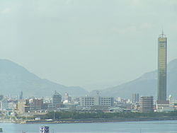 Utazu town seen from Seto-Ohashi Line.JPG