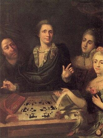 Vasily Bazhenov - Bazhenov and his family, 1770s