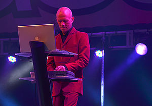 Vince Clarke - Clarke performing with Erasure on 1 July 2011