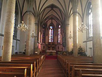 Vaduz Cathedral - Image: Vaduz Cathedral Interior