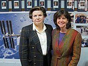 Valentina Tereshkova and Catherine Coleman