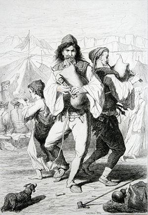 Morlachs - Morlachian musicians from Salona, Théodore Valerio, 1864