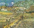 Van Gogh - Weizenfeld hinter dem Hospital Saint-Paul mit Bauer.jpeg