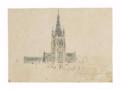 Van der Meulen Vue de la tour-clocher et de la toiture de l'église Saint-Martin à Courtrai.png