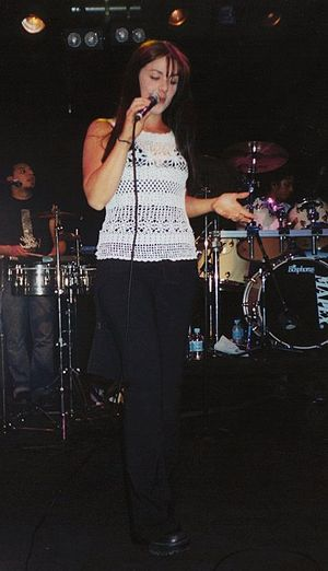 Vanessa Amorosi - Amorosi performing in 2002