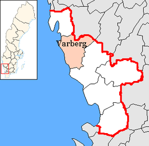 Varberg Municipality - Image: Varberg Municipality in Halland County