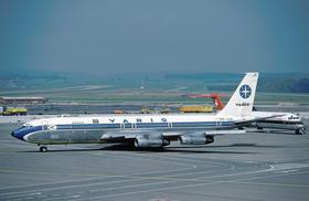 L'appareil impliqué dans l'accident, photographié ici à l'aéroport international de Zurich en 1982.